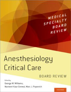 Anesthesiology Critical Care Board Review