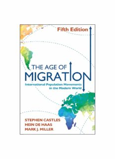 The Age of Migration: lnternational Population Movements in the Modern World 5th ed