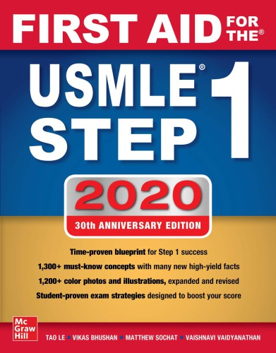 First Aid for the USMLE Step 1 2020, 30th Anniversary Edition